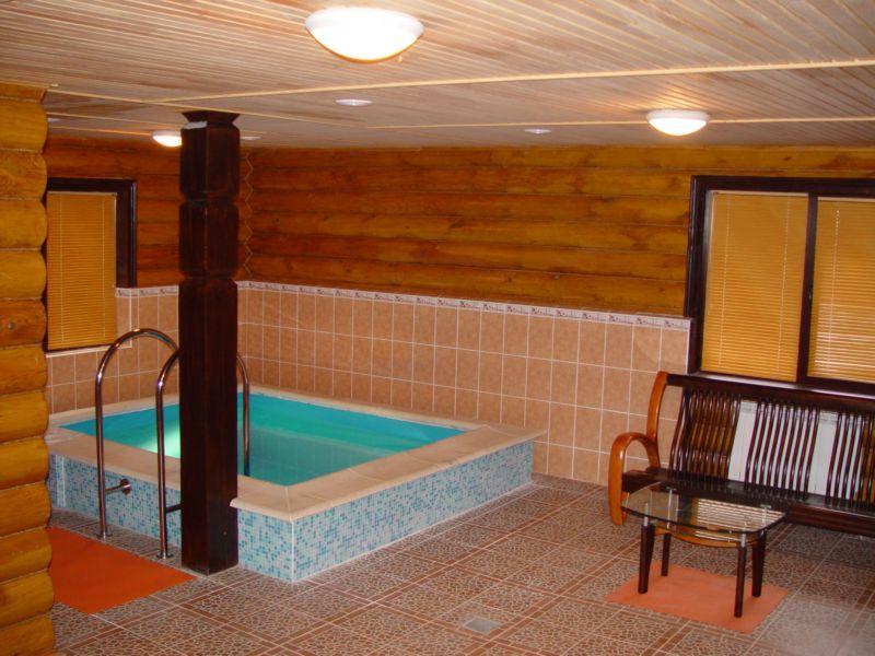 Русская баня Каскад фото зоны отдыха и бассейна