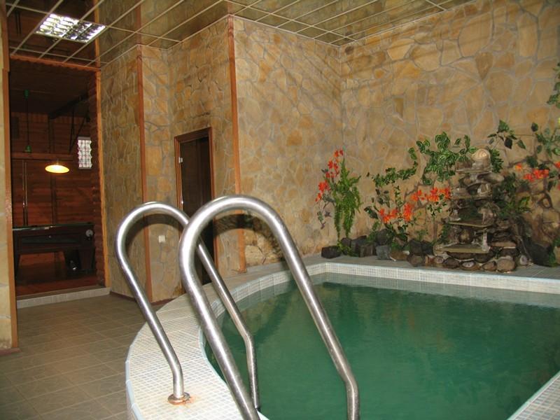Сауна Лесная фото бассейна