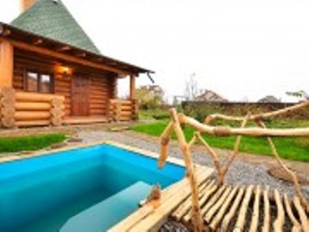 Русская баня Банечка фото бассейна на территории