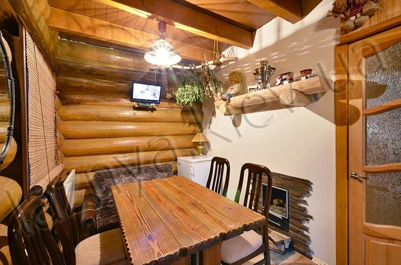 Русская баня на дровах Банечка фото зоны отдыха