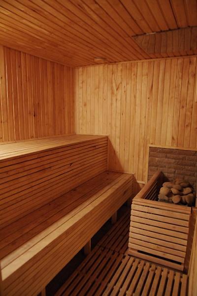 Баня в «Найт Сити» фото парилки