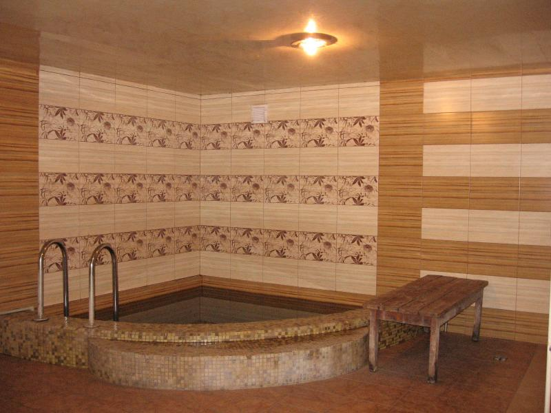 VIP-баня на дровах фото бассейна в бане